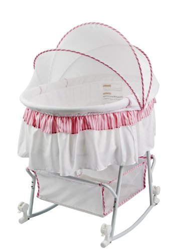 Dream On Lacy Convertible Baby Bassinet And Cradle In Pink White Check Price Amazon