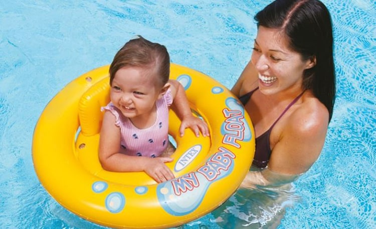 bffdcf074a If you have a water baby, having a baby float makes your life easy as he or  she can enjoy in the pool or water tub without any danger or risk.