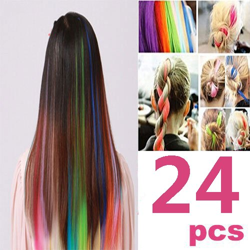 5 best clip in hair extensions opcc colorful clip in synthetic hair extensions pmusecretfo Choice Image