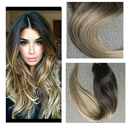 5 best clip in hair extensions full shine full set ombre balayage clip in human hair extensions pmusecretfo Choice Image