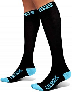 6d76c4e561 Compression socks are very beneficial for anybody who needs better blood  circulation in the legs. People who are at a high risk of blood clots  accumulating ...