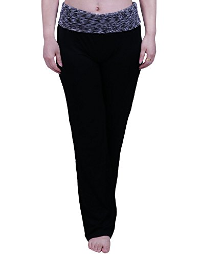 0bc3bfee01556b HDE Women's Color Block Fold Over Waist Yoga Pants. View On Amazon