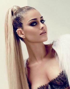 Super high ponytails