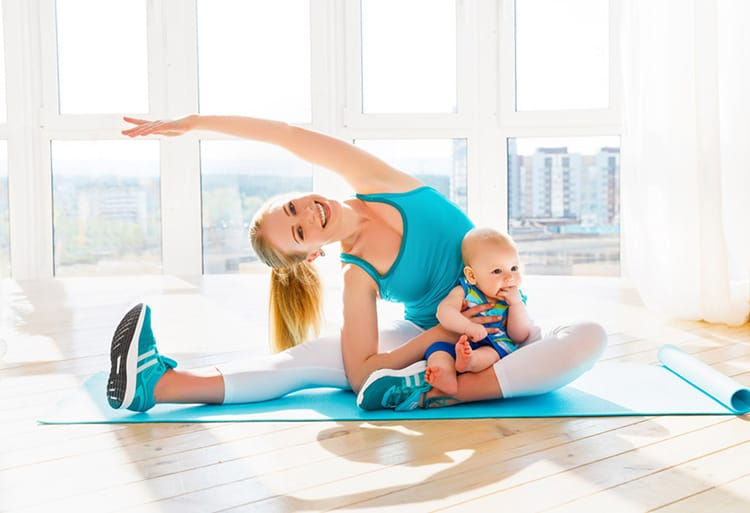 ways to exercise after a C section